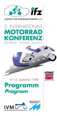 2. ifz-internationale Motorrad-Konferenz - Programmcover
